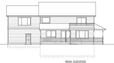 Rear Elevation Plan: 1-150