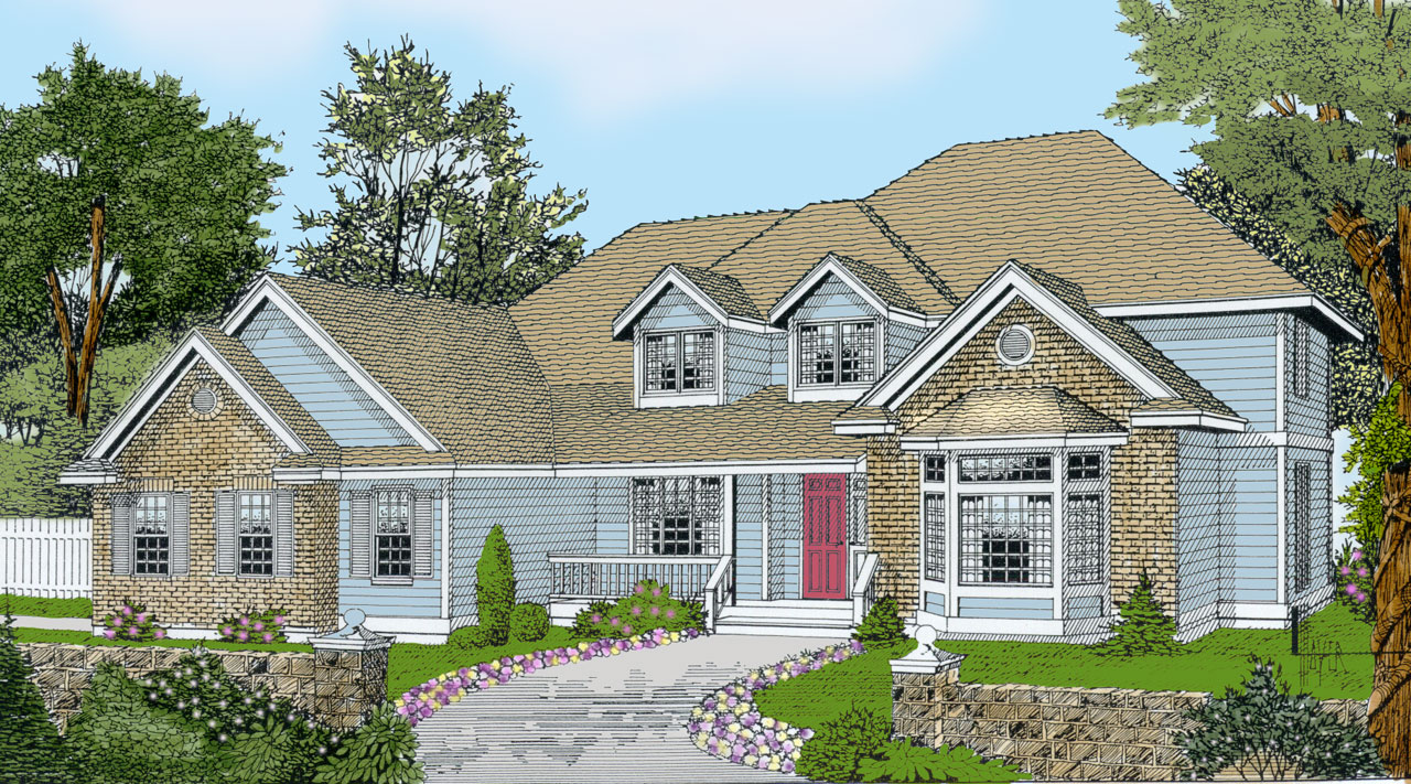 Traditional Style Home Design Plan: 1-152