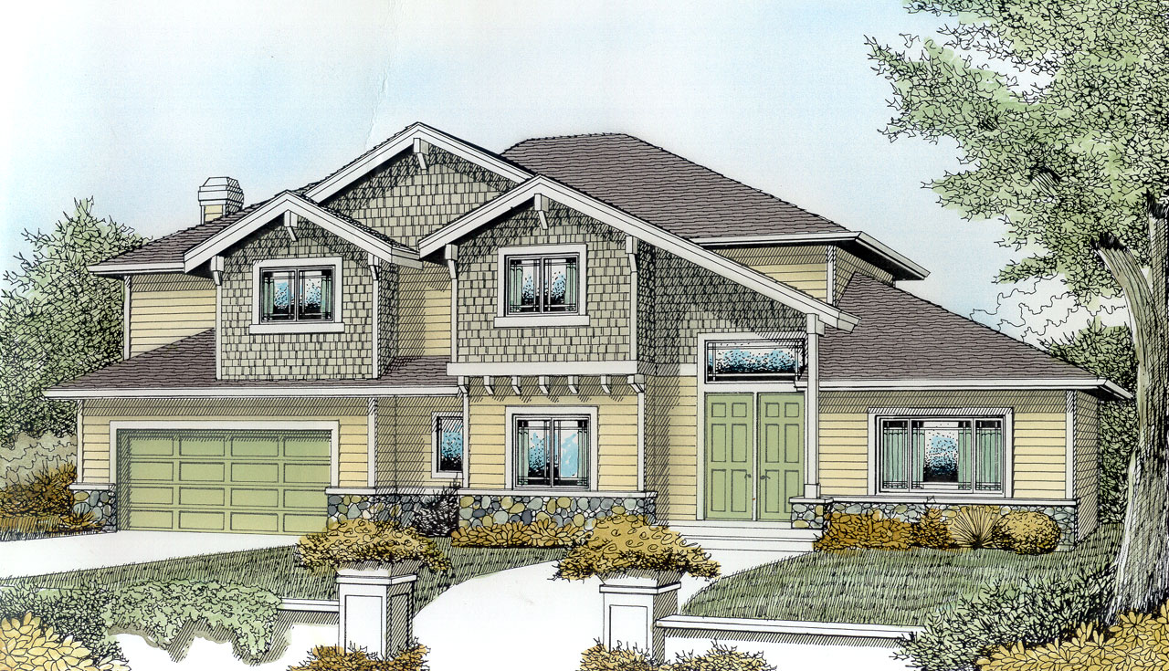 Craftsman Style Floor Plans Plan: 1-153