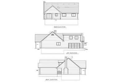 Rear Elevation Plan: 1-155