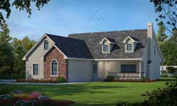 Country Style House Plans 1-155