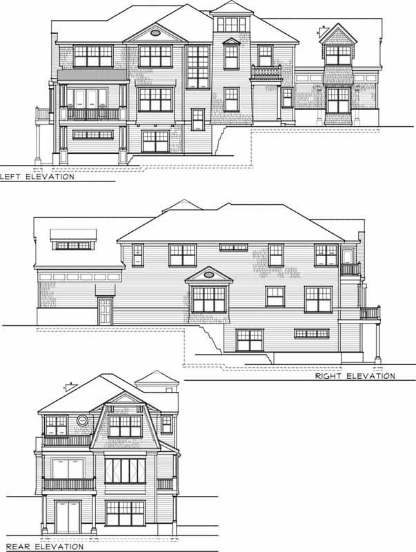 Rear Elevation Plan: 1-158