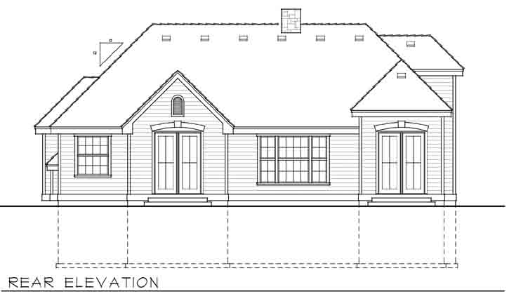 Rear Elevation Plan: 1-160
