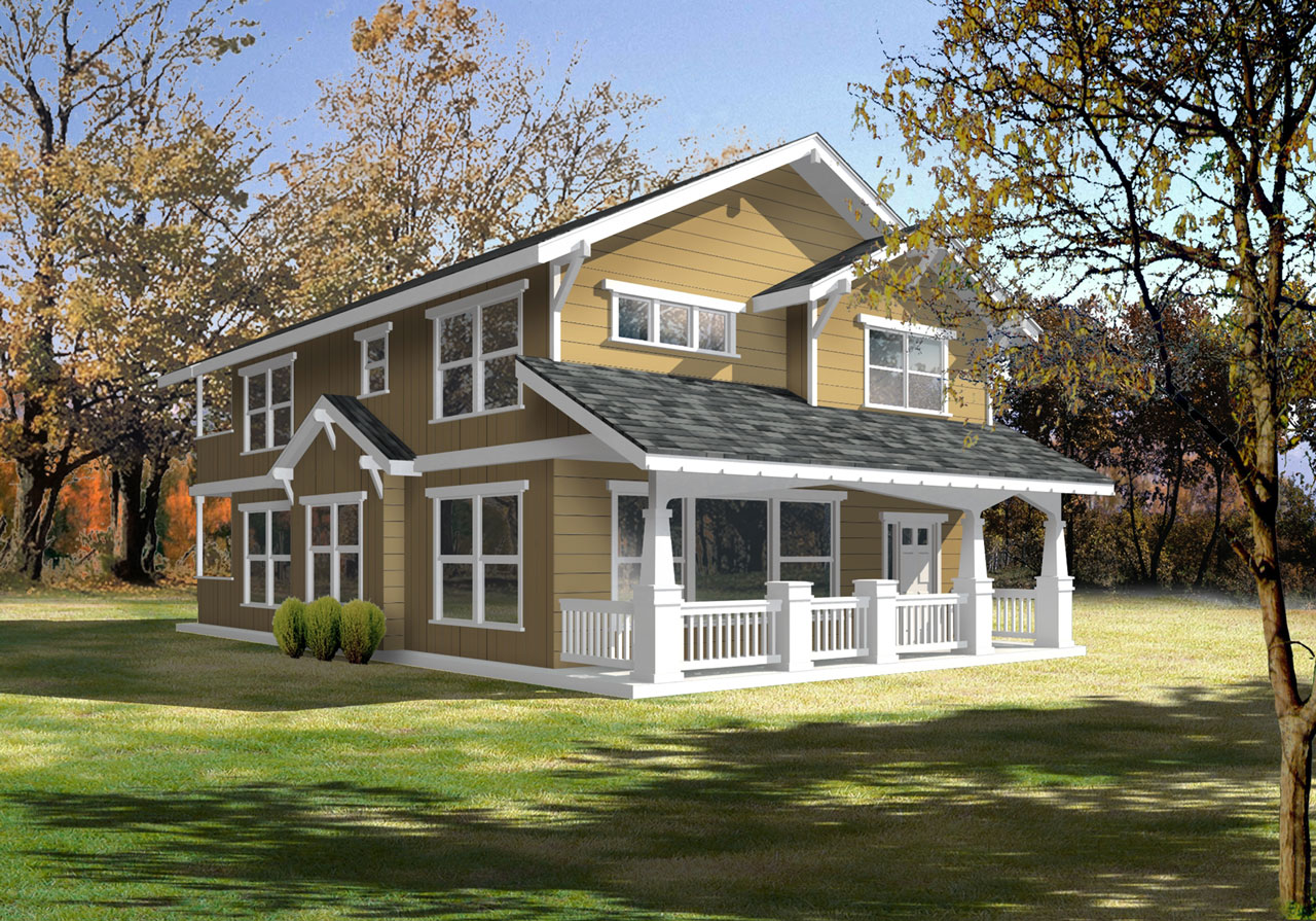 Craftsman Style House Plans 1-161
