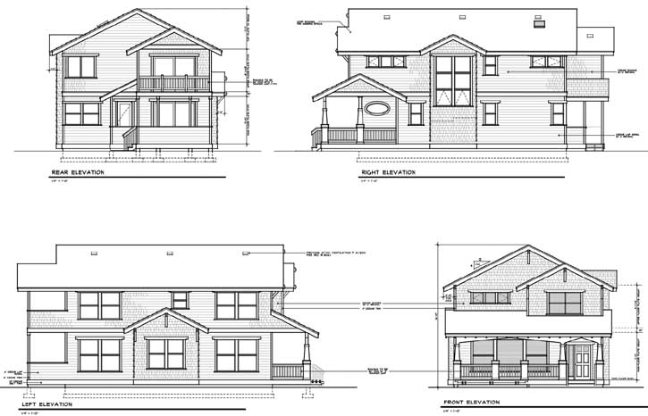 Rear Elevations Plan:1-161