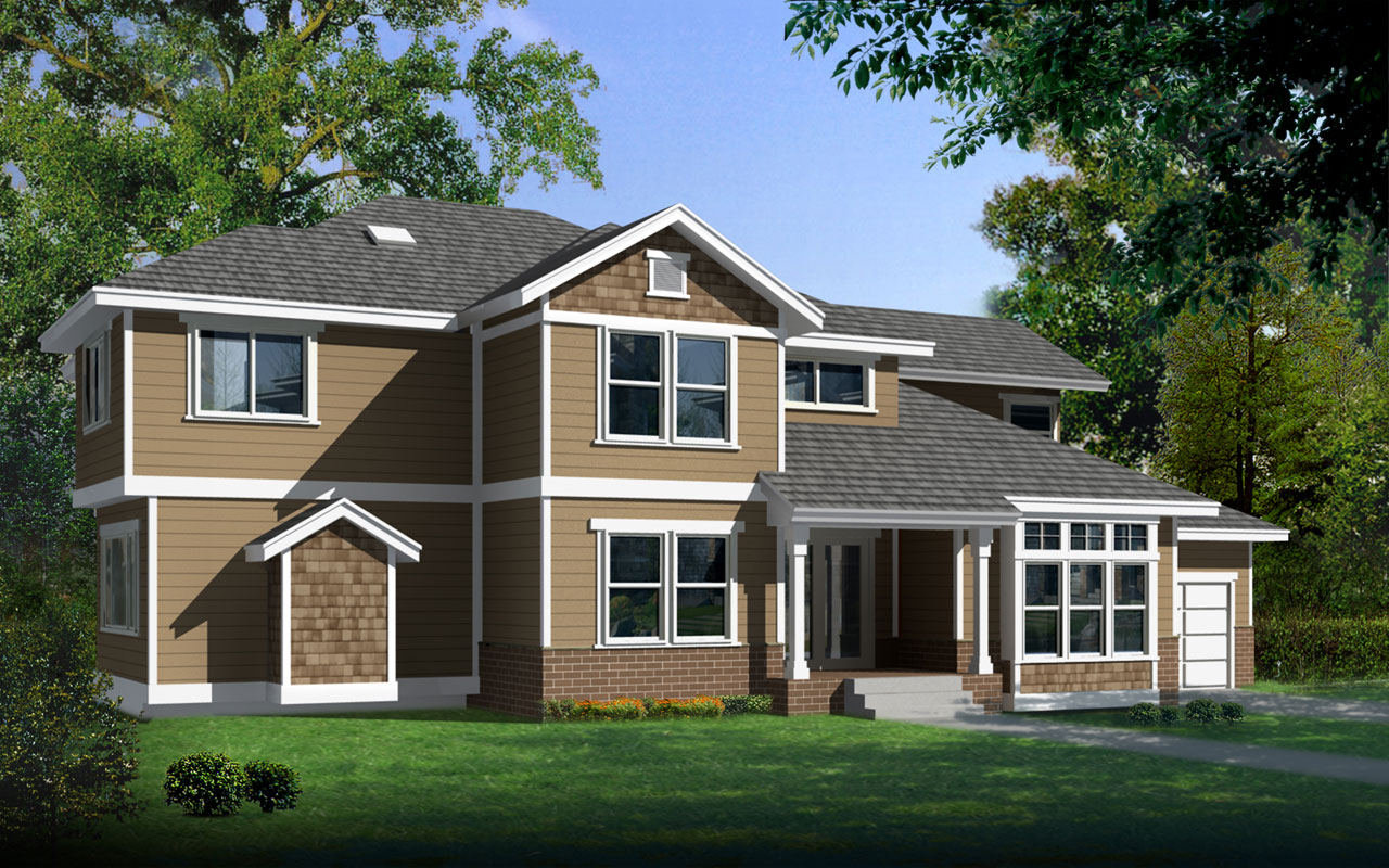 Craftsman Style House Plans Plan: 1-164