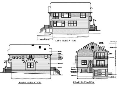 Rear Elevation Plan: 1-165