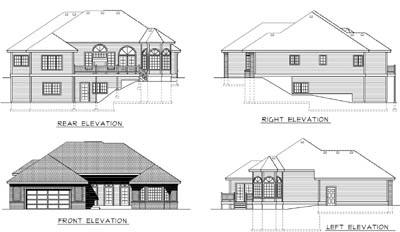 Rear Elevations Plan:1-166