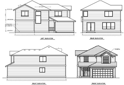 Rear Elevation Plan: 1-169