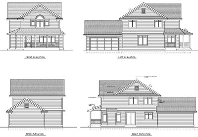 Rear Elevations Plan:1-170