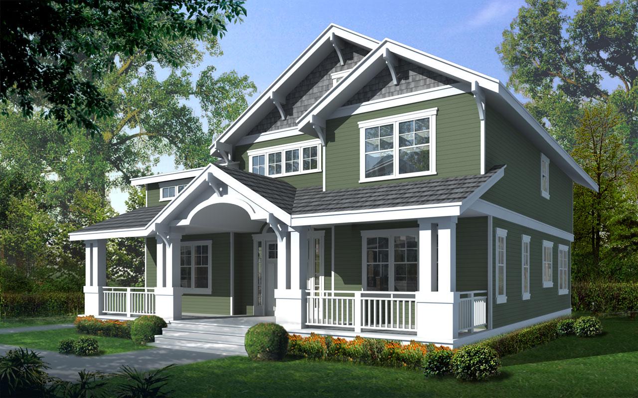 Craftsman Style House Plans Plan: 1-173