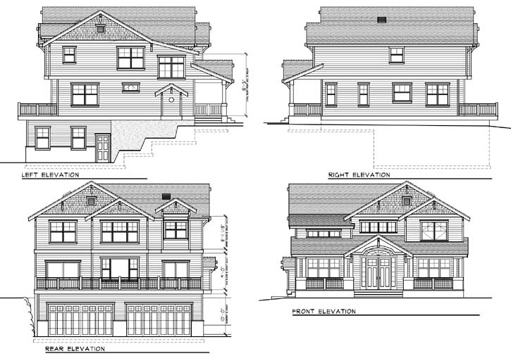 Rear Elevation Plan: 1-173