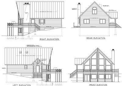 Rear Elevation Plan: 1-174