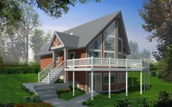 Contemporary Style House Plans 1-174