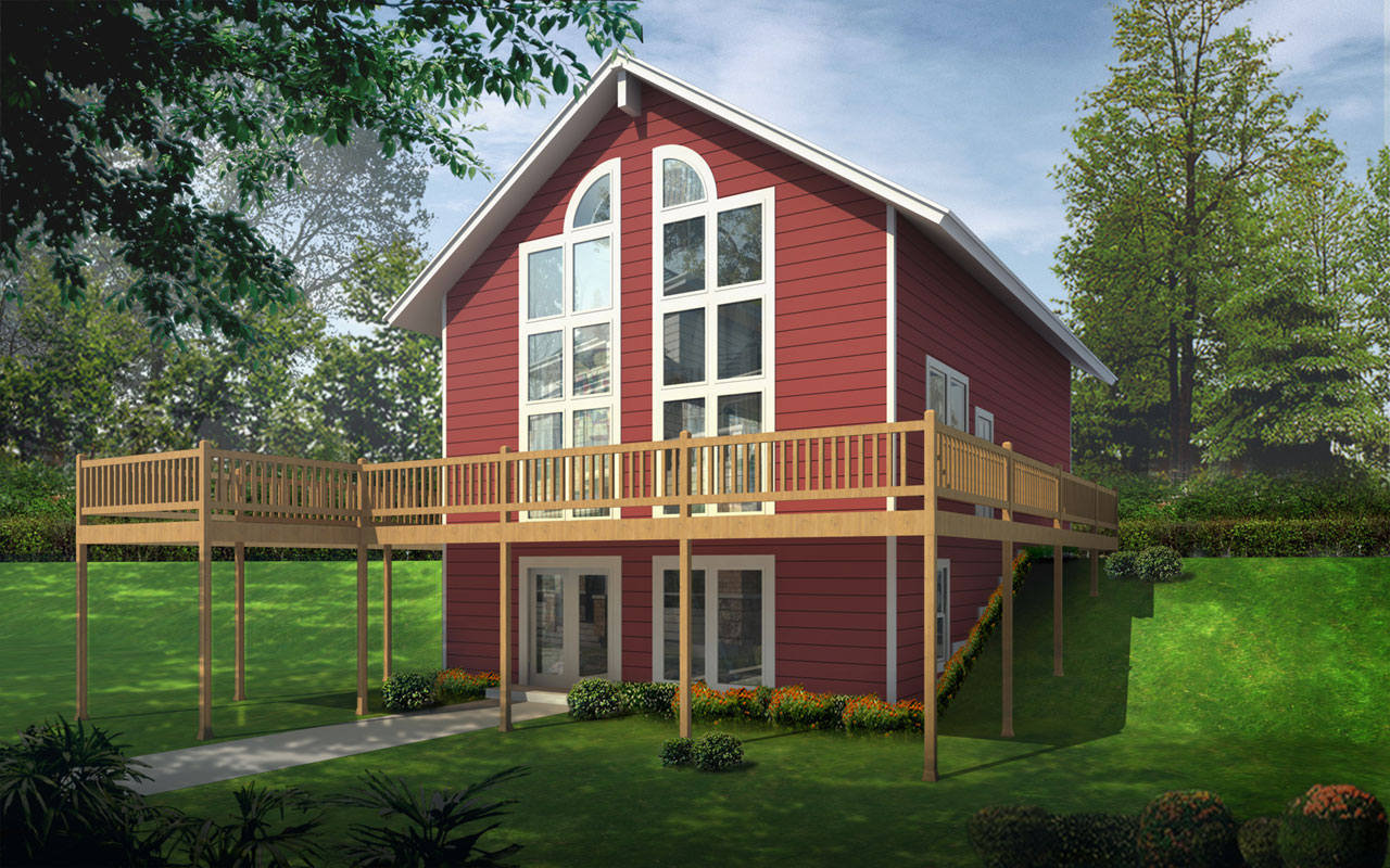 Contemporary Style House Plans Plan: 1-176