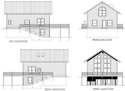 Rear Elevation Plan: 1-176