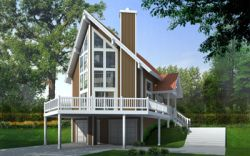 Contemporary Style House Plans 1-177