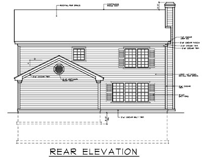 Rear Elevation Plan: 1-178