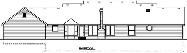 Rear Elevation Plan: 1-180