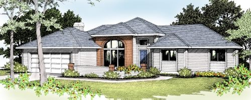 Northwest Style Home Design Plan: 1-181