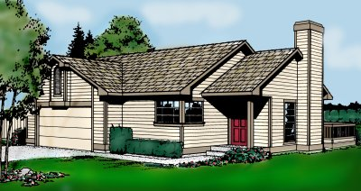 Traditional Style Home Design Plan: 1-182