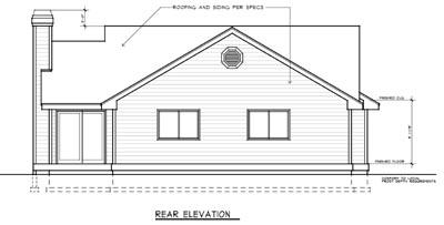 Rear Elevation Plan: 1-182