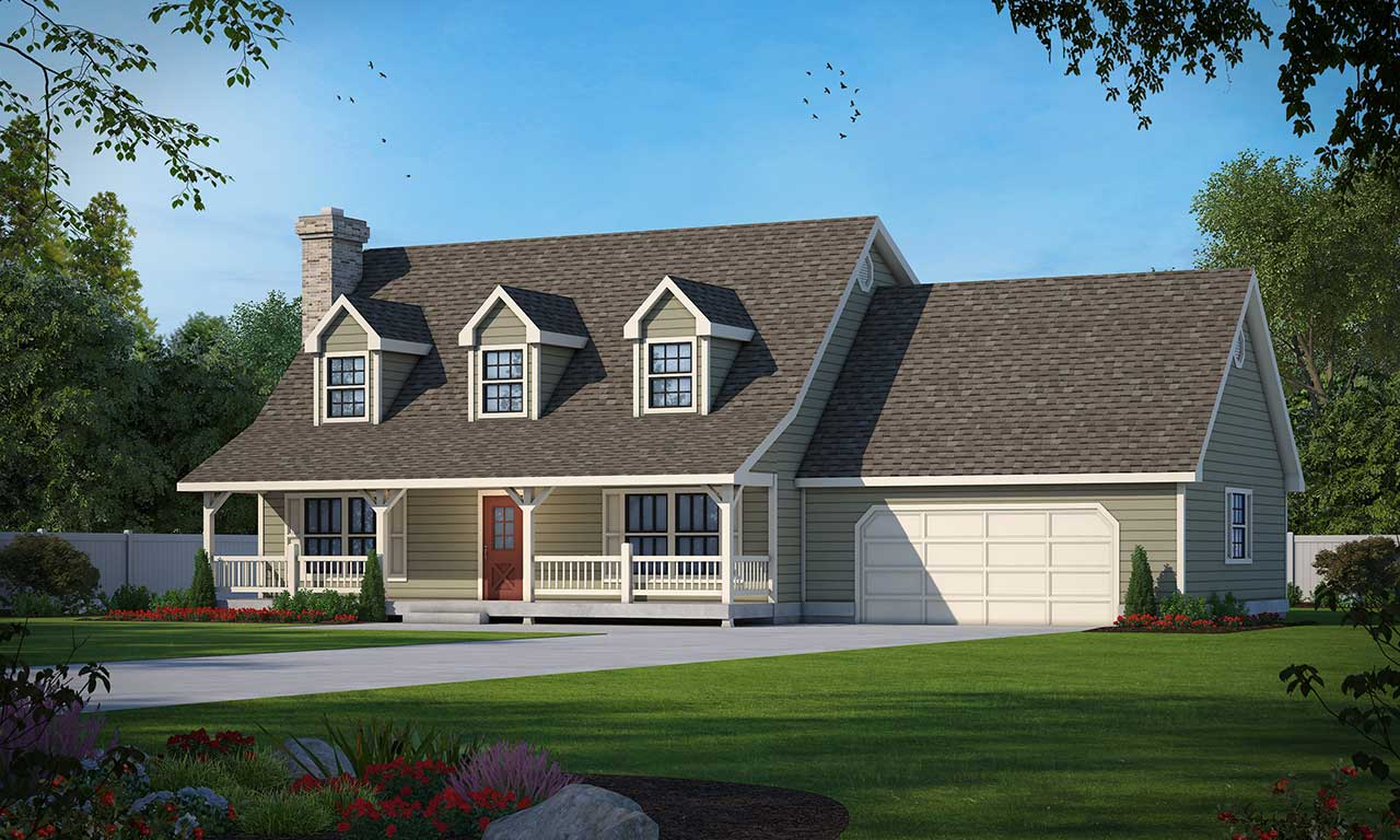 Farm Style Home Design Plan: 1-184