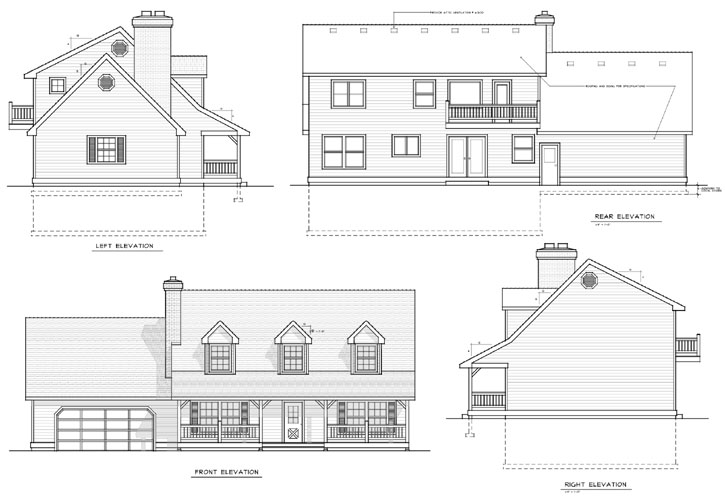 Rear Elevation Plan: 1-184