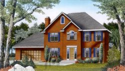 New-England-Colonial Style House Plans Plan: 1-185
