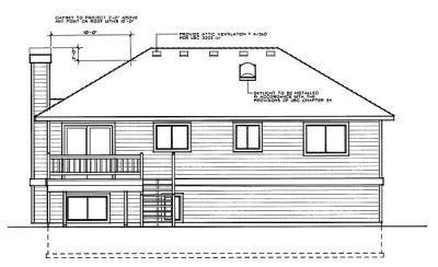 Rear Elevation Plan: 1-188