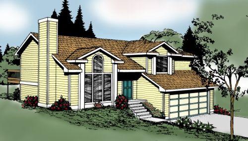 Northwest Style House Plans Plan: 1-190