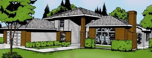 Northwest Style Home Design Plan: 1-191