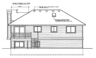 Rear Elevation Plan: 1-195