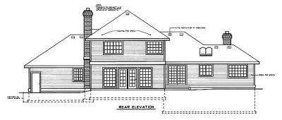 Rear Elevation Plan: 1-196