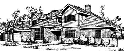 Traditional Style House Plans Plan: 1-197