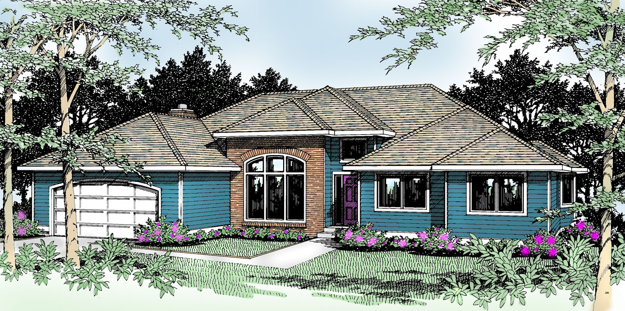Traditional Style House Plans Plan: 1-198
