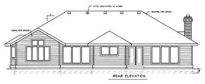Rear Elevation Plan: 1-198