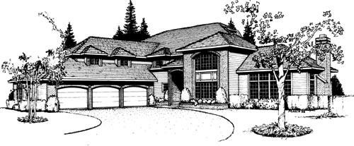 European Style House Plans Plan: 1-199