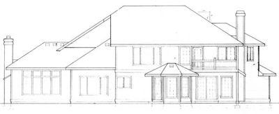 Rear Elevation Plan: 1-199
