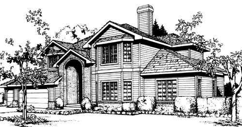 Traditional Style House Plans Plan: 1-200