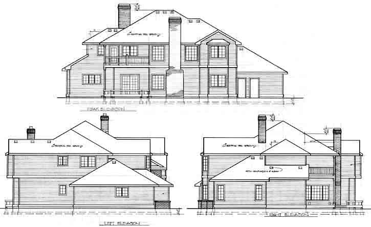 Rear Elevation Plan: 1-200