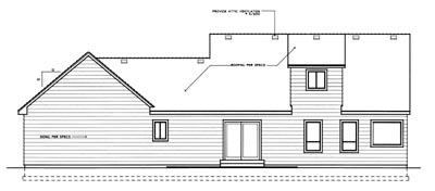Rear Elevation Plan: 1-201