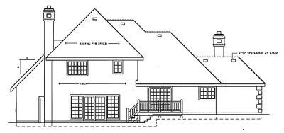 Rear Elevation Plan: 1-202