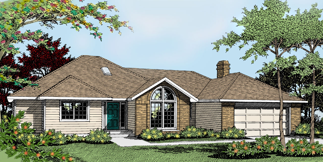 Traditional Style Home Design Plan: 1-204