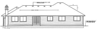 Rear Elevation Plan: 1-204