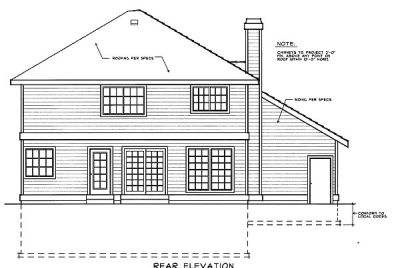 Rear Elevations Plan:1-207
