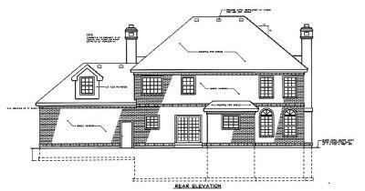 Rear Elevation Plan: 1-208