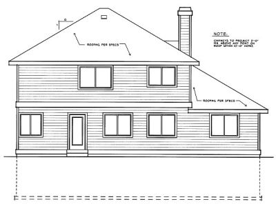 Rear Elevation Plan: 1-209