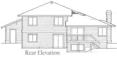 Rear Elevation Plan: 1-210