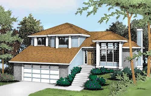 Northwest Style Home Design Plan: 1-212